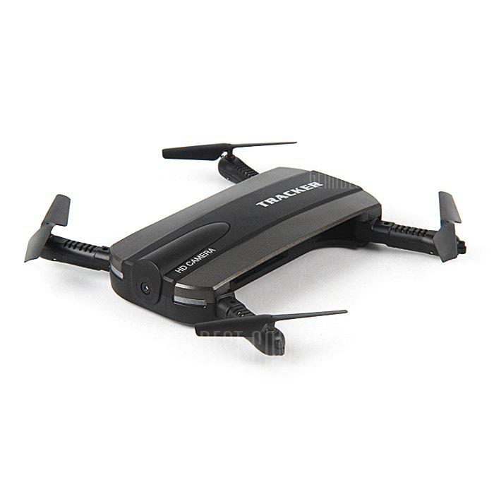 BLACK JXD 523 Mini Foldable RC Pocket Drone BNF