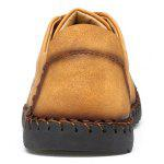 Microfiber Leather Casual Men Shoes - YELLOW