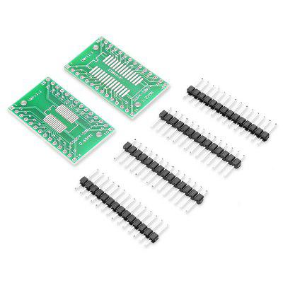 LDTR - YJ032 / E 2PCS Dual-side Adapter Board for ArduinoOther Accessories<br>LDTR - YJ032 / E 2PCS Dual-side Adapter Board for Arduino<br><br>Color: Green<br>Mainly Compatible with: Arduino<br>Material: FR4<br>Model: LDTR - YJ032 / E<br>Package Contents: 2 x Adapter Board, 4 x 14-pin Headers<br>Package Size(L x W x H): 8.00 x 6.00 x 1.20 cm / 3.15 x 2.36 x 0.47 inches<br>Package weight: 0.0200 kg<br>Product Size(L x W x H): 3.50 x 2.00 x 0.20 cm / 1.38 x 0.79 x 0.08 inches<br>Product weight: 0.0060 kg