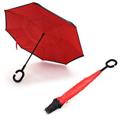 Buy RED Windproof Inverted Umbrella for Car for $16.66 in GearBest store