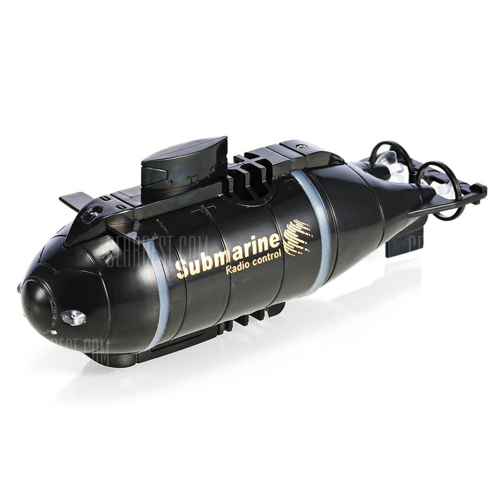 777 - 216 Full Function Fish Torpedo Wireless 40MHz RC Submarine Pigboat Toy Gift - BLACK