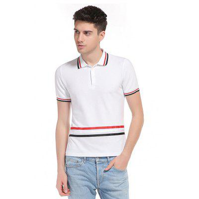 WHATLEES Striped Polo Shirt