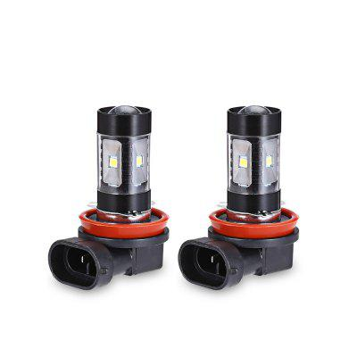 2pcs H8 / H11 30W 6 SMD 2835 LED Fog Light Car Lamp