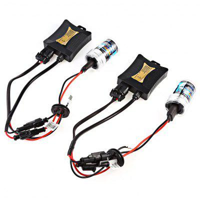 Buy LIGHT BLUE H7 55W HID Xenon LED Headlight Conversion Kit for $25.59 in GearBest store