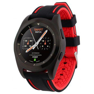 NO.1 G6 Bluetooth 4.0 Smartwatch - SILICON BAND RED