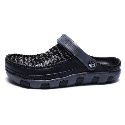 Buy Men Breathable Slippers Flat Slip On Beach Sandals BLACK 40 for $7.74 in GearBest store