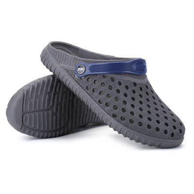 Buy Male Hollow Out Breathable Casual Slippers Beach Sandals GRAY 44 for $12.94 in GearBest store