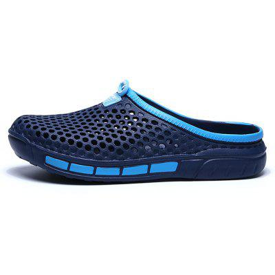 Men Hollow Out Breathable PVC Slippers Beach Sandals
