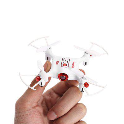 SYMA X20 - S RC 2.4GHz Quadcopter - RTFRC Quadcopters<br>SYMA X20 - S RC 2.4GHz Quadcopter - RTF<br><br>Age: Above 8 years old<br>Battery: 3.7V 180mAh lithium-ion ( built-in )<br>Brand: Syma<br>Built-in Gyro: 6 Axis Gyro<br>Camera Pixels: 0 ( no camera )<br>Channel: 4-Channels<br>Charging Time.: less than 50 minutes<br>Compatible with Additional Gimbal: No<br>Detailed Control Distance: 15~20m<br>Features: No camera, Brushed Version, Radio Control<br>Flying Time: 4~5mins<br>Functions: With light, Up/down, Turn left/right, 3D rollover, Slow down, Air Press Altitude Hold, Forward/backward, Gravity Sense Control, Headless Mode, One Key Landing, One Key Taking Off, Sideward flight, Speed up<br>Kit Types: RTF<br>Level: Beginner Level<br>Material: Electronic Components, ABS/PS<br>Mode: Mode 2 (Left Hand Throttle)<br>Model: X20 - S<br>Motor Type: Brushed Motor<br>Package Contents: 1 x Quadcopter ( Battery Included ), 1 x Single Hand Transmitter, 1 x USB Charging Cable, 1 x Screwdriver, 4 x Spare Propeller, 1 x English Manual<br>Package size (L x W x H): 17.30 x 6.80 x 19.50 cm / 6.81 x 2.68 x 7.68 inches<br>Package weight: 0.2650 kg<br>Product size (L x W x H): 10.50 x 10.50 x 2.50 cm / 4.13 x 4.13 x 0.98 inches<br>Product weight: 0.0220 kg<br>Radio Mode: Mode 2 (Left-hand Throttle)<br>Remote Control: 2.4GHz Wireless Remote Control<br>Size: Micro<br>Transmitter Power: 4 x 1.5V AA battery(not included)<br>Type: Indoor, Quadcopter