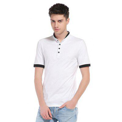 WHATLEES Button Neck Cotton T Shirts