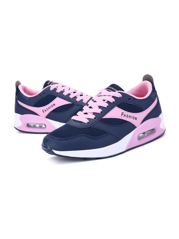 BLUE AND PINK 38 Outdoor Breathable Mesh Casual Walking Women Shoes