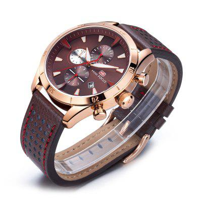 MINI FOCUS MF0011G Men Quartz WatchMens Watches<br>MINI FOCUS MF0011G Men Quartz Watch<br><br>Band material: Leather<br>Band size: 22 x 2.2cm / 8.66 x 0.87 inches<br>Brand: MINI FOCUS<br>Case material: Alloy<br>Clasp type: Pin buckle<br>Dial size: 4 x 4 x 1.2cm / 1.57 x 1.57 x 0.47 inches<br>Display type: Analog<br>Movement type: Quartz watch<br>Package Contents: 1 x Watch<br>Package size (L x W x H): 23.00 x 5.00 x 2.20 cm / 9.06 x 1.97 x 0.87 inches<br>Package weight: 0.1020 kg<br>Product size (L x W x H): 22.00 x 4.00 x 1.20 cm / 8.66 x 1.57 x 0.47 inches<br>Product weight: 0.0710 kg<br>Shape of the dial: Round<br>Special features: Date, Stopwatch, Day<br>Watch mirror: Mineral glass<br>Watch style: Business, Fashion<br>Watches categories: Male table<br>Water resistance: 30 meters<br>Wearable length: 18 - 21cm / 7.09 - 8.27 inches