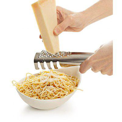 2 in 1 Stainless Steel Kitchen Utensil Tool Pasta Noodle Spaghetti Spoon Cheese Slicer