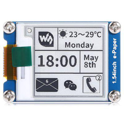 Waveshare 1.54 inch E-ink Display Module with SPI InterfaceLCD,LED Display Module<br>Waveshare 1.54 inch E-ink Display Module with SPI Interface<br><br>Brand: Waveshare<br>Connectors: 4-wire SPI, 3-wire SPI<br>Package Contents: 1 x 1.54 inch E-paper Module, 1 x 8-pin Wire Connector<br>Package Size(L x W x H): 12.00 x 7.50 x 2.00 cm / 4.72 x 2.95 x 0.79 inches<br>Package weight: 0.0310 kg<br>Ports: CLK, VCC, RST, BUSY, DIN, DC, CS, GND<br>Product weight: 0.0190 kg<br>Screen type: LED<br>Type: LED Display Module