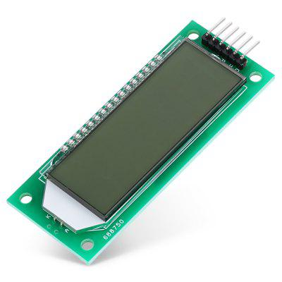 LDTR - WG0101 2.4 inch 6-digit 7-segment LCD Display ModuleLCD,LED Display Module<br>LDTR - WG0101 2.4 inch 6-digit 7-segment LCD Display Module<br><br>Connectors: 3-wire SPI<br>Mainly Compatible with: Ardunio<br>Material: PCB + Alloy + Plastic<br>Model: LDTR - WG0101<br>Package Contents: 1 x LCD Display Module<br>Package Size(L x W x H): 10.00 x 5.00 x 2.00 cm / 3.94 x 1.97 x 0.79 inches<br>Package weight: 0.0350 kg<br>Product Size(L x W x H): 8.00 x 3.00 x 0.70 cm / 3.15 x 1.18 x 0.28 inches<br>Product weight: 0.0200 kg<br>Screen size: 2.4 inch<br>Screen type: LCD<br>Type: LCD Display<br>Working Current: 0.4mA without Backlight / 4mA with Backlight