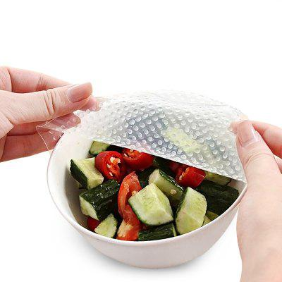 4PCS Kitchen Silicone Reusable Washable Seal Cover Food Wrapper Preservative Film