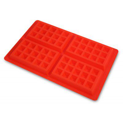 4-cavity Waffle Cake Chocolate Pan Silicone Baking Mold Cooking Tools