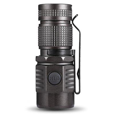 ON THE ROAD U16 LED Mini Camping FlashlightLED Flashlights<br>ON THE ROAD U16 LED Mini Camping Flashlight<br><br>Battery Included or Not: Yes<br>Battery Quantity: 1<br>Battery Type: Li-ion, 16340<br>Body Material: Aluminium Alloy<br>Brand: ON THE ROAD<br>Color: Black<br>Emitters Quantity: 1<br>Feature: Water Resistant, Lightweight<br>Flashlight size: Mini<br>Flashlight Type: Handheld<br>Function: Emergency, Walking<br>Light color: Cool White<br>Lumens Range: 500-1000Lumens<br>Luminous Flux: 720Lm<br>Model: U16<br>Package Contents: 1 x ON THE ROAD U16 Flashlight, 1 x Lanyard, 2 x Spare O-ring, 1 x Protective Cover, 1 x 16340 Li-ion Battery<br>Package size (L x W x H): 12.00 x 12.00 x 5.00 cm / 4.72 x 4.72 x 1.97 inches<br>Package weight: 0.2100 kg<br>Power Source: Battery<br>Product weight: 0.0600 kg<br>Switch Location: Side Switch