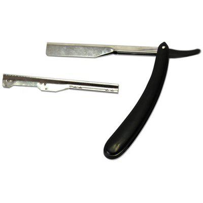 Viejo acero inoxidable borde recto Barber Razor