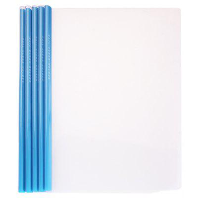 Deli 5530 5PCS A4 Report Cover Folder Paper Clamp