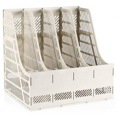 Deli 9848 4-compartment Desktop Paper Basket File Folder