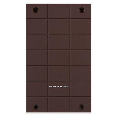 SSK SHE080 External Enclosure for 2.5 inch SATA HDDHDD Enclosure<br>SSK SHE080 External Enclosure for 2.5 inch SATA HDD<br><br>Application: Desktop, Laptop, Server<br>Brand: SSK<br>Color: Brown<br>Design: Portable<br>Material: ABS<br>Model: SHE080<br>Package Size(L x W x H): 17.00 x 12.00 x 4.00 cm / 6.69 x 4.72 x 1.57 inches<br>Package weight: 0.0850 kg<br>Packing List: 1 x SSK SHE080 External Enclosure, 1 x USB Cable ( 60cm ), 1 x Mini Screwdriver, 1 x Screw Pack, 1 x English User Manual<br>Product Size(L x W x H): 13.30 x 8.00 x 2.00 cm / 5.24 x 3.15 x 0.79 inches<br>Product weight: 0.0630 kg<br>Size: 2.5 inch