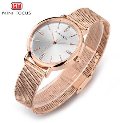 MINIFOCUS MF0036L Quartz Watch for WomenWomens Watches<br>MINIFOCUS MF0036L Quartz Watch for Women<br><br>Band material: Steel<br>Band size: 21.00 x 1.60 cm / 8.27 x 0.62 inches<br>Brand: MINIFOCUS<br>Case material: Alloy<br>Clasp type: Hook buckle<br>Dial size: 3.50 x 3.50 x 0.80 cm / 1.38 x 1.38 x 0.31 inches<br>Display type: Analog<br>Movement type: Quartz watch<br>Package Contents: 1 x MINIFOCUS Women Quartz Watch<br>Package size (L x W x H): 26.00 x 6.40 x 2.20 cm / 10.24 x 2.52 x 0.87 inches<br>Package weight: 0.0780 kg<br>Product size (L x W x H): 21.00 x 3.50 x 0.80 cm / 8.27 x 1.38 x 0.31 inches<br>Product weight: 0.0480 kg<br>Shape of the dial: Round<br>Watch style: Fashion<br>Watches categories: Female table<br>Water resistance: Life water resistant