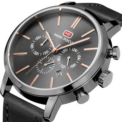 MINIFOCUS MF0023G Quartz Watch for MenMens Watches<br>MINIFOCUS MF0023G Quartz Watch for Men<br><br>Band material: Genuine Leather<br>Band size: 22.50 x 2.20 cm / 8.86 x 0.86 inches<br>Brand: MINI FOCUS<br>Case material: Alloy<br>Clasp type: Pin buckle<br>Dial size: 4.60 x 4.60 x 1.10 cm / 1.81 x 1.81 x 0.43 inches<br>Display type: Analog<br>Movement type: Quartz watch<br>Package Contents: 1 x MINIFOCUS Male Quartz Watch<br>Package size (L x W x H): 26.00 x 6.40 x 2.20 cm / 10.24 x 2.52 x 0.87 inches<br>Package weight: 0.1170 kg<br>Product size (L x W x H): 22.50 x 4.60 x 1.10 cm / 8.86 x 1.81 x 0.43 inches<br>Product weight: 0.0870 kg<br>Shape of the dial: Round<br>Watch mirror: Mineral glass<br>Watch style: Fashion<br>Watches categories: Male table<br>Water resistance: Life water resistant<br>Wearable length: 16.00 - 20.00 cm / 6.29 - 7.87 inches