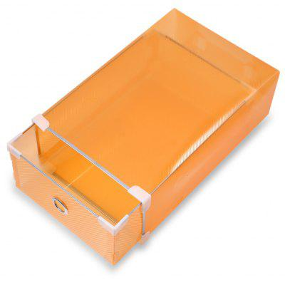 Foldable Shoe Storage Boxes Plastic Stackable Organizer