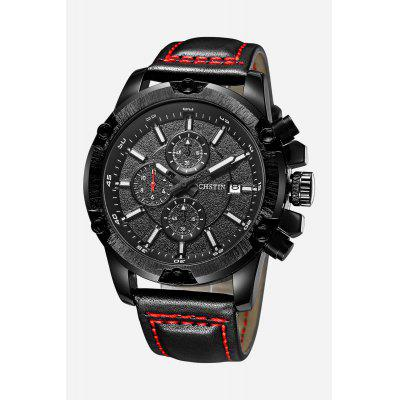 OCHSTIN 6075G Men Working Sub-dial Quartz WatchMens Watches<br>OCHSTIN 6075G Men Working Sub-dial Quartz Watch<br><br>Band material: Genuine Leather<br>Brand: OCHSTIN<br>Case material: Stainless Steel<br>Clasp type: Pin buckle<br>Display type: Analog<br>Movement type: Quartz watch<br>Package Contents: 1 x OCHSTIN 6075G Men Working Sub-dial Quartz Watch<br>Package size (L x W x H): 15.00 x 8.00 x 5.00 cm / 5.91 x 3.15 x 1.97 inches<br>Package weight: 0.2040 kg<br>Product size (L x W x H): 27.00 x 4.60 x 1.50 cm / 10.63 x 1.81 x 0.59 inches<br>Product weight: 0.1080 kg<br>Shape of the dial: Round<br>Watch style: Business<br>Watches categories: Men