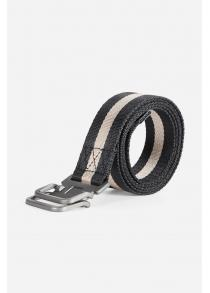 130cm Smooth Striped Nylon Belt with Stylish Zinc Alloy Buckle