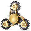 Three-blade Linkage Fidget Spinner Zinc Alloy + Plastic Funny Stress Reliever Relaxation Gift - BLACK AND GOLDEN