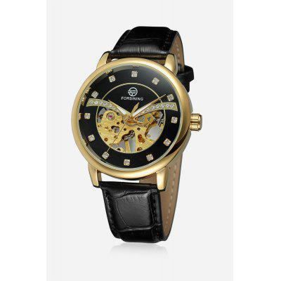 Buy Forsining H099M Men Auto Mechanical Watch Exquisite Pattern Luminous Hollow Dial Wristwatch, BLACK, Watches & Jewelry, Men's Watches for $10.52 in GearBest store