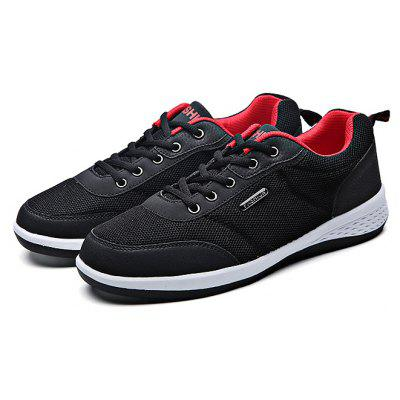 Buy BLACK 43 Mesh Running Lace Up Sports Male Casual Shoes for $27.43 in GearBest store