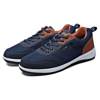 Buy BLUE 44 Mesh Running Lace Up Sports Male Casual Shoes for $27.43 in GearBest store