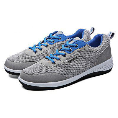 Buy GRAY 44 Mesh Running Lace Up Sports Male Casual Shoes for $27.43 in GearBest store