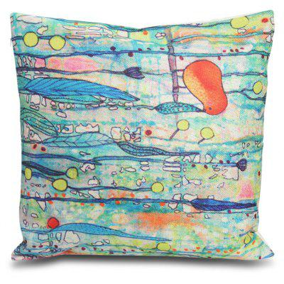 Bird Pattern Square Throw Pillow Case -$3.09 Online Shopping GearBest.com