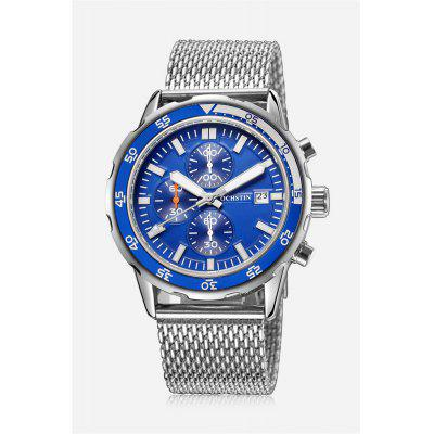 OCHSTIN 6044G Fashion Male Quartz Watch with Steel Mesh Band