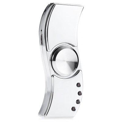 Buy SILVER 2 in 1 Two-blade Zinc Alloy Fidget Spinner Lighter for $11.97 in GearBest store