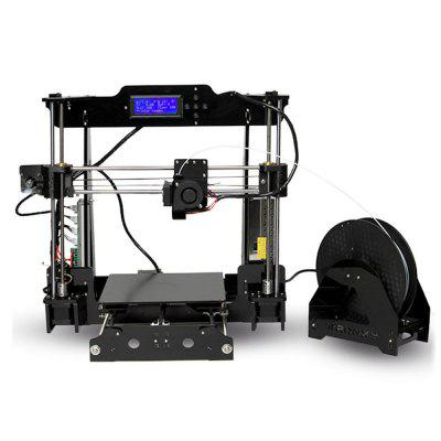 Tronxy Acrylic P802 - MHS 3D Printer3D Printers, 3D Printer Kits<br>Tronxy Acrylic P802 - MHS 3D Printer<br><br>Brand: Tronxy<br>File format: STL, OBJ, G-code<br>Frame material: Acrylic plate<br>Host computer software: Repetier-Host<br>Language: Chinese,English<br>Layer thickness: 0.1-0.4mm<br>LCD Screen: Yes<br>Material diameter: 1.75mm<br>Memory card offline print: SD card<br>Model: P802 - MHS<br>Nozzle diameter: 0.4mm<br>Nozzle quantity: Single<br>Nozzle temperature: 170-275 Degree<br>Package size: 46.00 x 41.00 x 20.00 cm / 18.11 x 16.14 x 7.87 inches<br>Package weight: 9.2500 kg<br>Packing Type: unassembled packing<br>Platform temperature: Room temperature to 110 degree<br>Print speed: 40 - 120mm/s<br>Product forming size: 220 x 220 x 240mm<br>Product size: 43.00 x 38.00 x 18.00 cm / 16.93 x 14.96 x 7.09 inches<br>Product weight: 9.0000 kg<br>Supporting material: PLA, ABS<br>Voltage: 110V/220V<br>XY Axis Speed: 3000mm/min<br>XY-axis positioning accuracy: 0.012mm<br>Z Axis Speed: 200mm/min<br>Z-axis positioning accuracy: 0.004mm