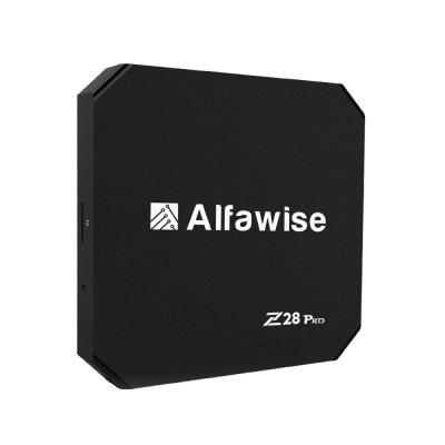 Alfawise Z28 Pro Smart TV BoxTV Box<br>Alfawise Z28 Pro Smart TV Box<br><br>5G WiFi: Yes<br>Audio format: AAC, APE, FLAC, M4A, MP3, OGG, OGA, WAV, WMA<br>Bluetooth: Bluetooth4.0<br>Brand: Alfawise<br>Camera: Without<br>Core: Quad Core, 1.5GHz<br>CPU: ARM Cortex-A53<br>Decoder Format: H.264, H.265<br>GPU: Mali-450<br>Interface: HDMI, Micro SD Card Slot, AV, RJ45, SPDIF, USB2.0, DC Power Port, USB3.0<br>Maximum External Hard Drives Capacity: 64GB<br>Model: Z28 Pro<br>Package Contents: 1 x Z28 Pro RK3328 Smart TV Box, 1 x Power Charger, 1 x Remote Control, 1 x HDMI Cable<br>Package size (L x W x H): 18.00 x 11.00 x 6.60 cm / 7.09 x 4.33 x 2.6 inches<br>Package weight: 0.3900 kg<br>Photo Format: JPG, JPEG, GIF, BMP<br>Power Supply: Charge Adapter<br>Power Type: External Power Adapter Mode<br>Processor: RK3328<br>Product size (L x W x H): 10.00 x 10.00 x 1.60 cm / 3.94 x 3.94 x 0.63 inches<br>Product weight: 0.1200 kg<br>Suggest Input: 5V 2A<br>System: Android 7.1<br>System Bit: 64Bit<br>Type: TV Box<br>Video format: MPEG2, MVC, RV, VC-1, VP6, VP8, MPEG-1, AVS, MPEG-4, VP9<br>WIFI: 802.11 a/b/g/n/ac