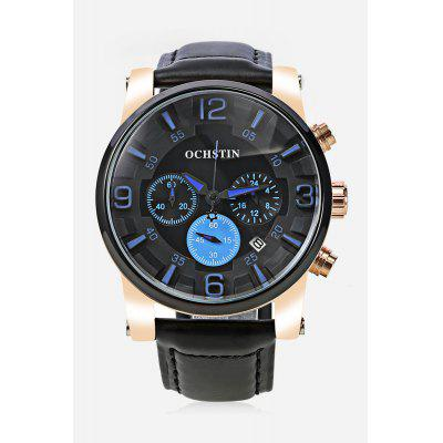 OCHSTIN 052D Men Working Sub-dial Quartz WatchMens Watches<br>OCHSTIN 052D Men Working Sub-dial Quartz Watch<br><br>Band material: Genuine Leather<br>Band size: 25.50 x 2.00 cm / 10.04 x 0.78 inches<br>Brand: OCHSTIN<br>Case material: Alloy<br>Clasp type: Pin buckle<br>Dial size: 4.10 x 4.10 x 1.00 cm / 1.61 x 1.61 x 0.39 inches<br>Display type: Analog<br>Movement type: Quartz watch<br>Package Contents: 1 x OCHSTIN 052D Men Quartz Watch<br>Package size (L x W x H): 16.00 x 8.00 x 4.50 cm / 6.3 x 3.15 x 1.77 inches<br>Package weight: 0.1770 kg<br>Product size (L x W x H): 25.50 x 4.10 x 1.00 cm / 10.04 x 1.61 x 0.39 inches<br>Product weight: 0.0770 kg<br>Shape of the dial: Round<br>Watch color: Black and White, Brown, Blue and Black, Black and Orange<br>Watch mirror: Mineral glass<br>Watch style: Casual<br>Watches categories: Male table<br>Water resistance: Life water resistant<br>Wearable length: 20.00 - 23.00 cm / 7.87 - 9.05 inches