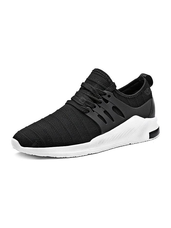 Breathable Woven Lace-up Men Running Shoes
