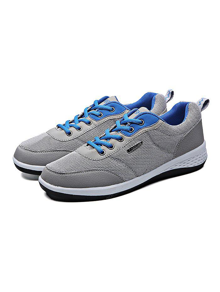 GRAY 42 Mesh Running Lace Up Sports Male Casual Shoes