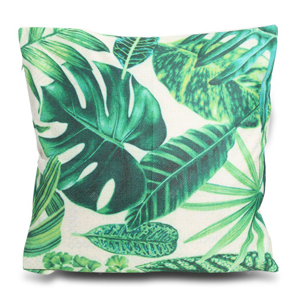 Tree Leaf Printed Square Throw Pillow Case