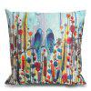 Bird Leaf Pattern Square Throw Pillow Case - COLORMIX