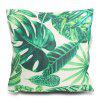 Tree Leaf Printed Square Throw Pillow Case - GREEN