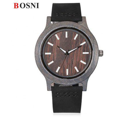 BOSNI BSN002 Male Wood Quartz Watch