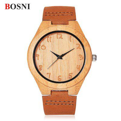 BOSNI BSN004 Male Wood Quartz Watch