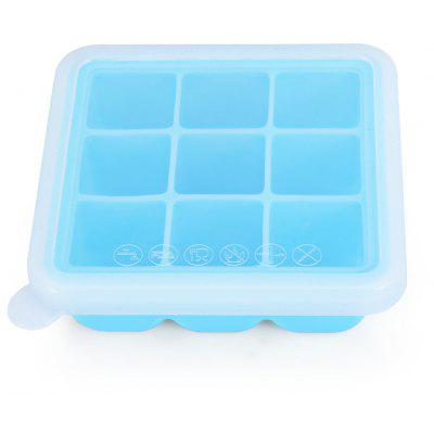 Square Ice Cube Mold Silicone Pudding Jelly Tray with Lid for Home
